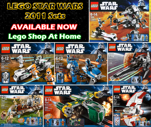 Lego Star Wars 2011 Sets Now Available on Lego Shop At Home ...