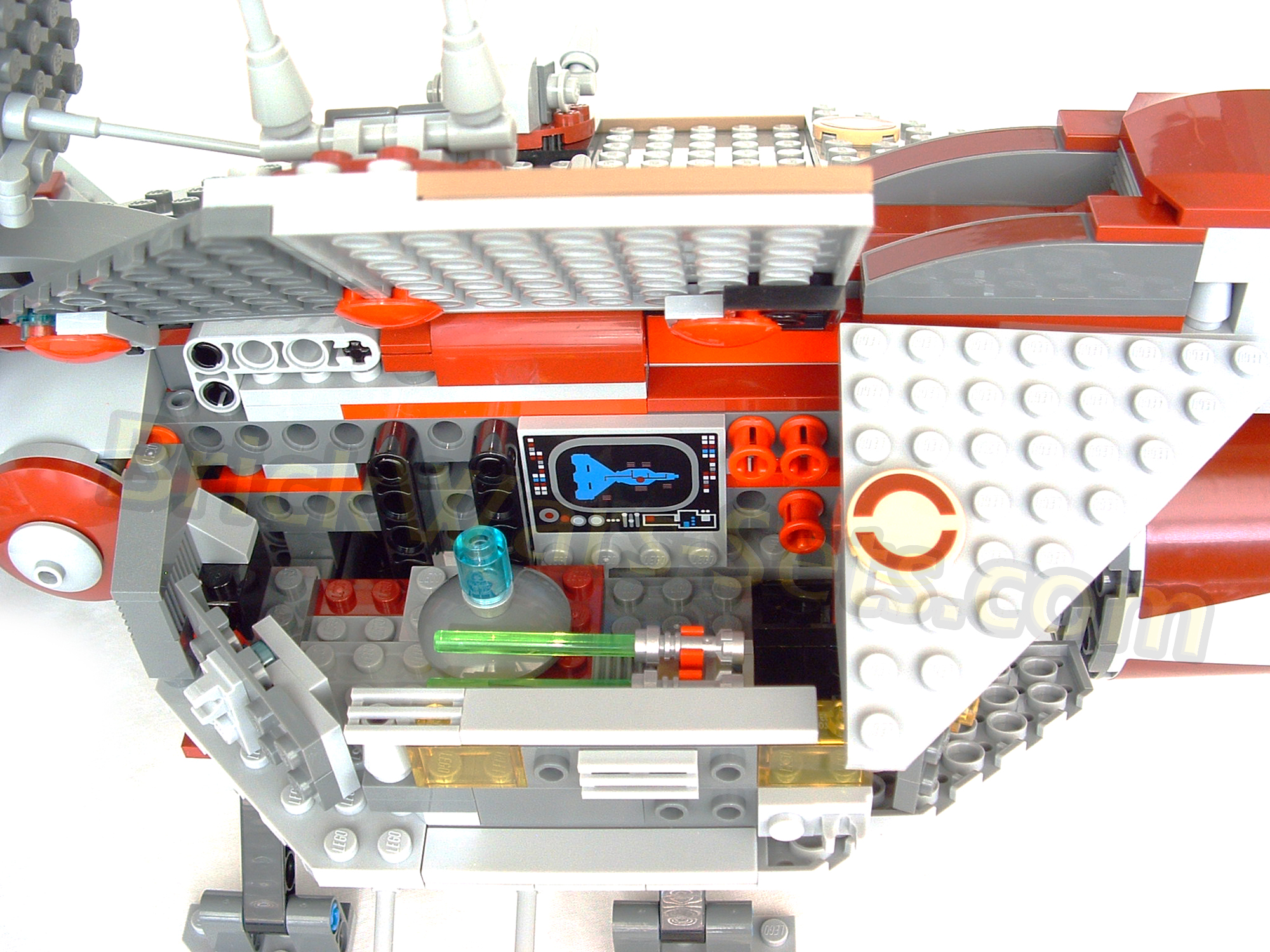 Lego 7964 Republic Frigate Galactic Archives 7665 Star Wars Cruiser Attached