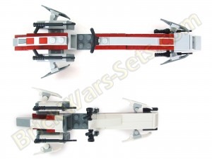 Lego 75012 BARC Speeder with Sidecar - BARC Speeder Comparison