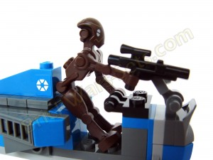 Lego 75012 BARC Speeder with Sidecar - Droid's Pose in Speeder