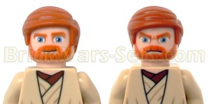 Lego 75012 BARC Speeder with Sidecar - Obi-Wan's Faces