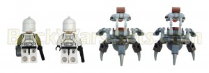 Lego 75000 Clone Troopers vs. Droidekas - Minifigures (Back)