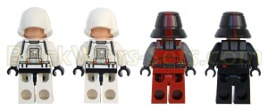 Lego 75001 Republic Troopers vs. Sith Troopers - Minifigures (Back)