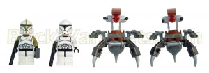 Lego 75000 Clone Troopers vs. Droidekas - Minifigures (Front)