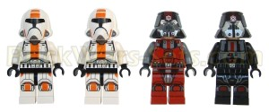 Lego 75001 Republic Troopers vs. Sith Troopers - Minifigures (Front)