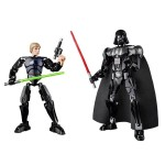 Luke Skywalker and Darth Vader Buildable Figures