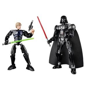 Luke Skywalker and Darth Vader Buildable Figures