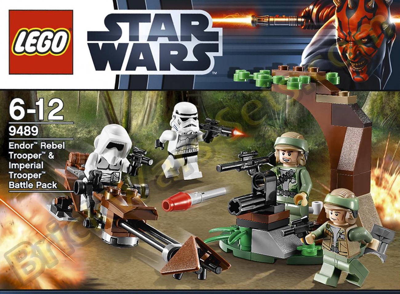 Lego 9489 endor rebel trooper and imperial trooper battle pack