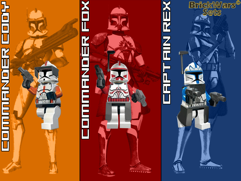 BrickWars-Sets: Clone Leadership | Lego Star Wars FREE Wallpaper