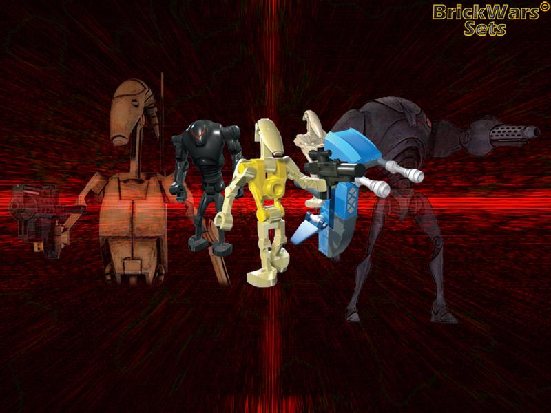 BrickWars-Sets: Droid Army   Lego Star Wars FREE Wallpaper