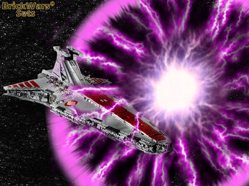 BrickWars-Sets: Republic Attack Cruiser - Ionic Shutdown | Lego Star ...