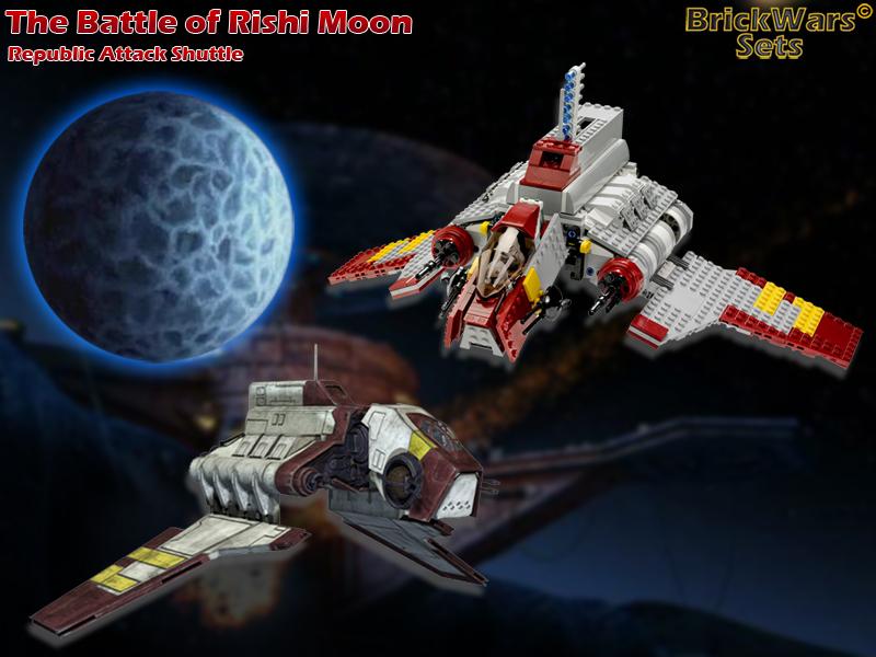 BrickWars-Sets: The Battle of Rishi Moon - Republic Attack Shuttle ...
