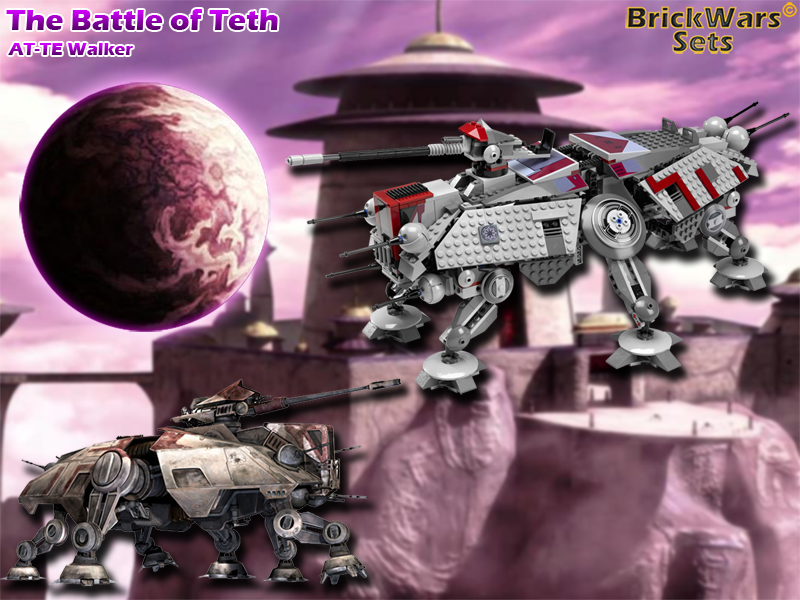 Brickwars Sets The Battle Of Teth At Te Walker Lego Star Wars Free Wallpaper