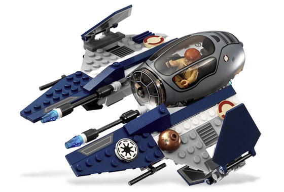 Lego 7661 Jedi Starfighter with Hyperdrive Booster Ring - Alternate View 2