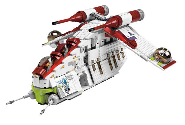 lego 7676 star wars republic attack gunship. Black Bedroom Furniture Sets. Home Design Ideas