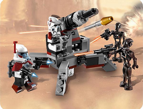 Clone trooper vs battle droids