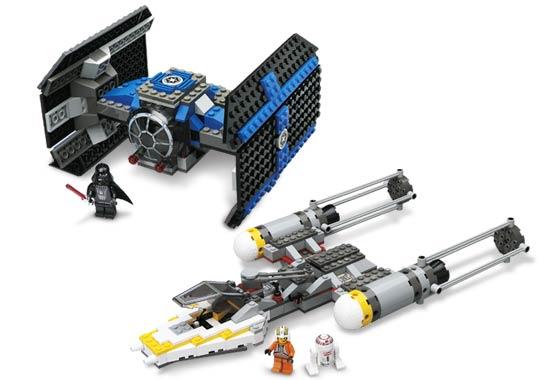 LEGO 4484 Star Wars Mini TIE Advanced /& X-wing Fighter Mint