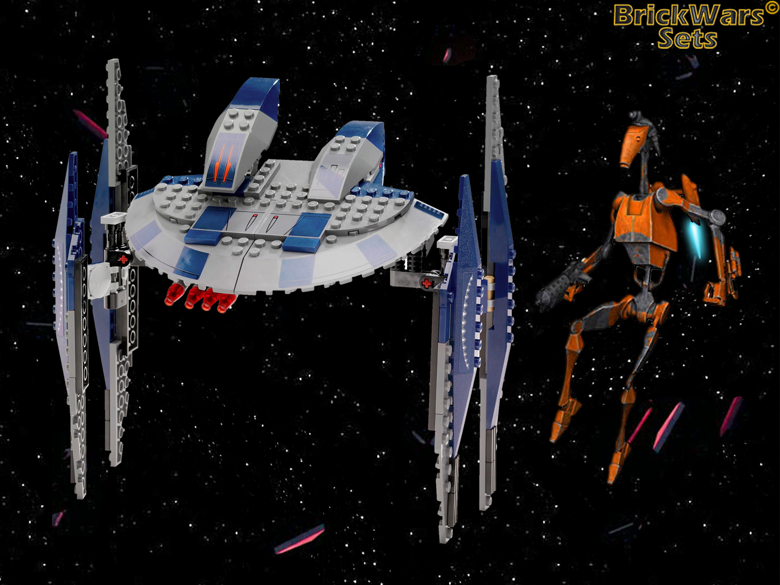 Brickwars Sets Hyena Droid Bomber Lego Star Wars Free Wallpaper